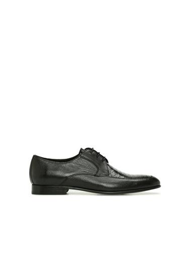 Divarese 5024552 Kroko Doku Detaylı Erkek Deri Ayakkabı Siyah